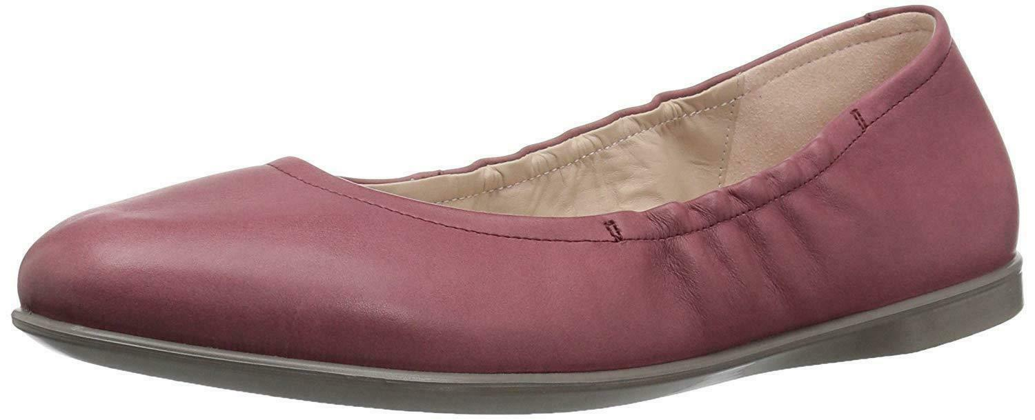 NIB Ecco Incise Enchant Ballet Flat Leather Petal Trim pink Women's Sz 36 - 42