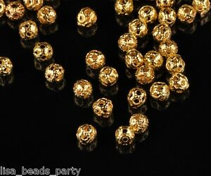 Wholesale-100pcs-4mm-Round-Metal-Alloy-Hollow-Out-Loose-Beads-DIY-Findings-Gold
