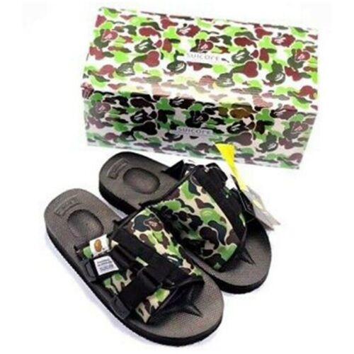 A Bathing APE x SUICOKE Kaw-Ape Bape OG-081APE Camo BAPE Sandals Beach Slippers