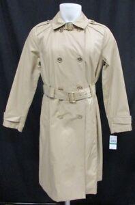 Michael Kors Women's Double-Breasted Khaki Trench Coat W/Belt Size M L