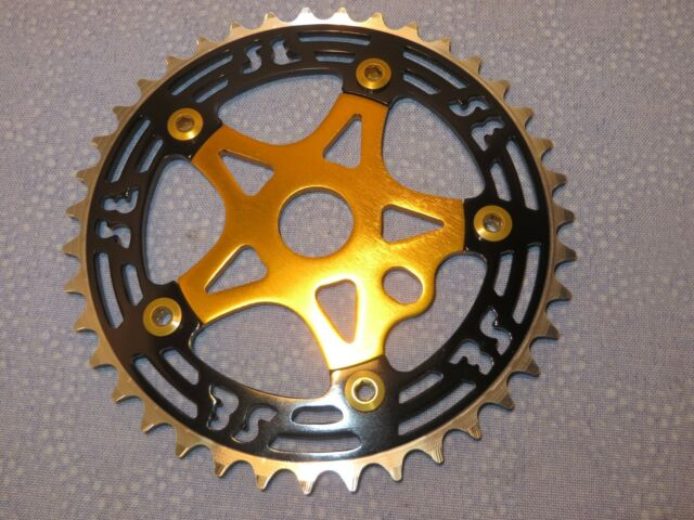 SE Racing BMX 39 Tooth Alloy Chainring and Spider Black with Black New