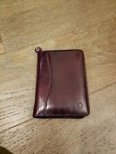 Franklin Covey Vintage Leather Binder Zip Around Planner Day Timer Small Size