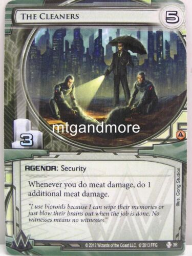 Android Netrunner LCG System Crash Draft Starter 1x The Cleaners  #036