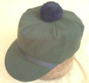 Image is loading SALE-Original-Wool-Scotch-Cap-Heather-Green-Langenberg- 36fa87f6b76