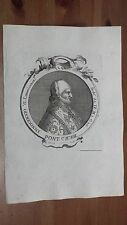 1775 Efigie de Papa Innocenzio VI Pontifice Lemovicense/Frances Grabado Original