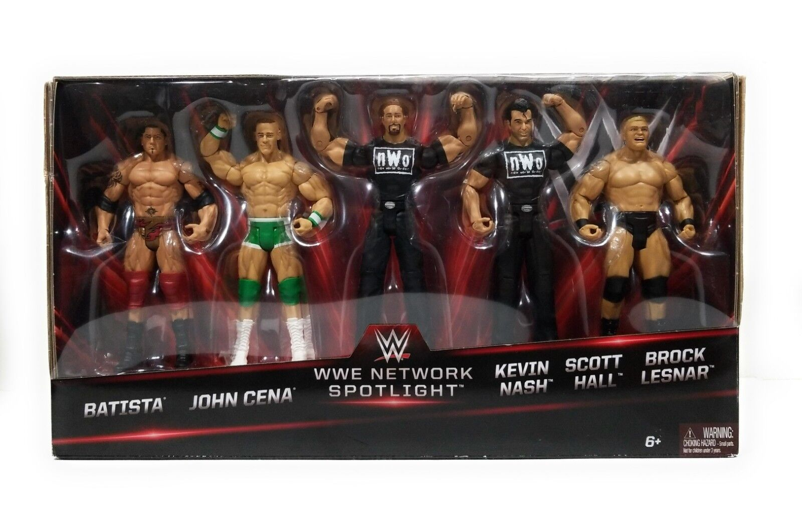 WWE Network Network Network Spotlight Collection Batista Cena Nash Hall Lesnar Action Figures a37