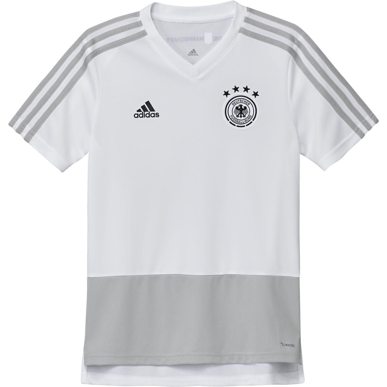 Adidas Performance Kinder Freizeit T-Shirt DFB TRAINING JERSEY YOUTH weiß  | Klein und fein