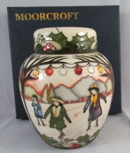 Moorcroft-Ginger-Jar-THE-SKATERS-Paul-Hilditch-Edition-1st-QUALITY-Winter-NICE