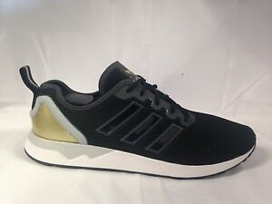 best service 900a0 6aeb5 Details about Adidas ZX Flux Adv Mens Trainers Sneakers Black/Gold/white UK  9.5 Eur 44 BNIB