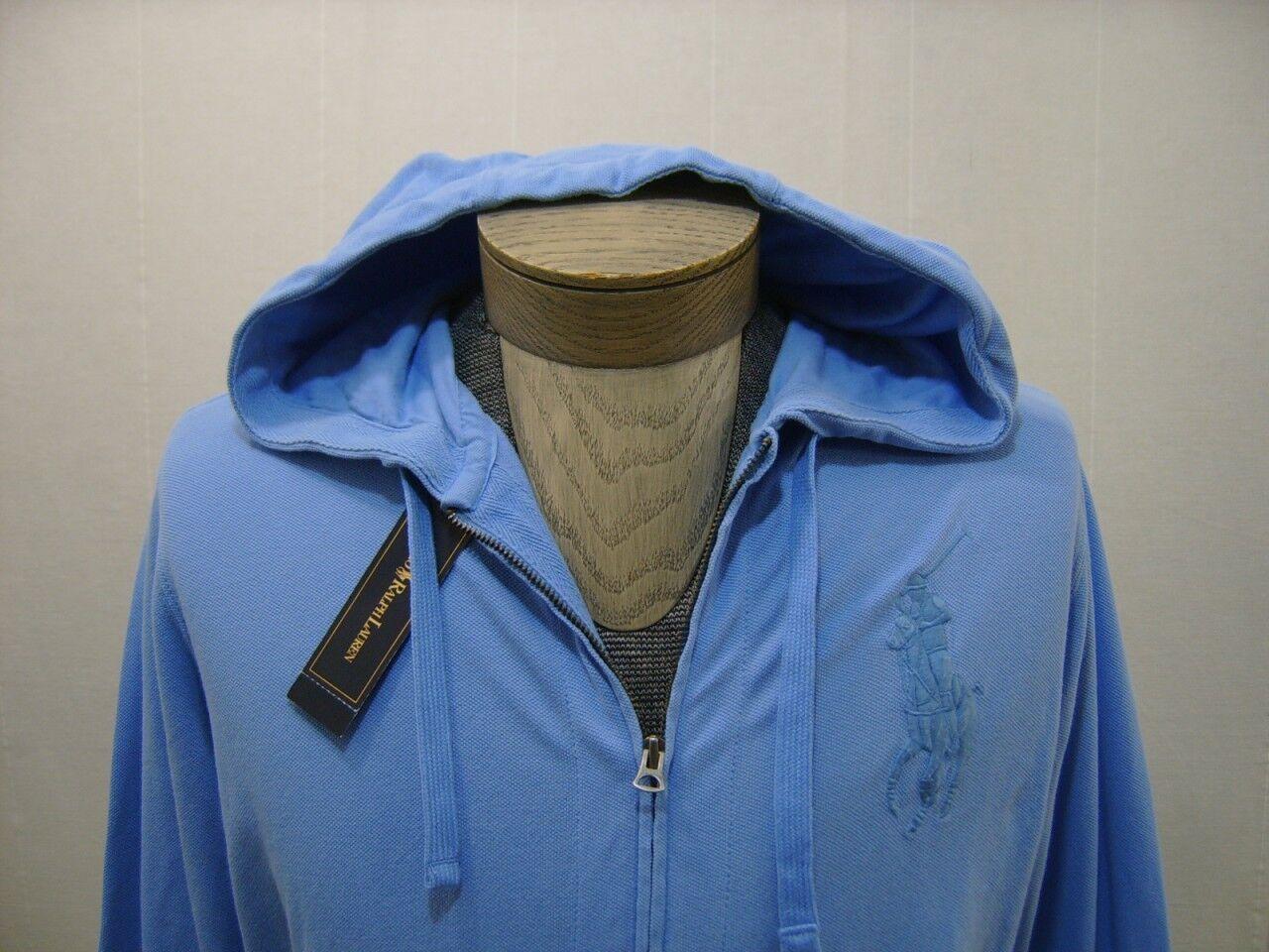 Polo Ralph Lauren  Herren Big Pony M Full Zip Hoodie Hooded Sweatshirt Shirt Blau