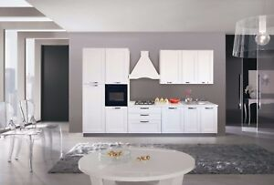 Dettagli su Pensili cucina componibile classica bianca H 36