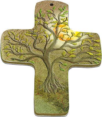 "Wand-kreuz"" Lebensbaum"" Mit Hochglänzender Aluminiumveredelung"