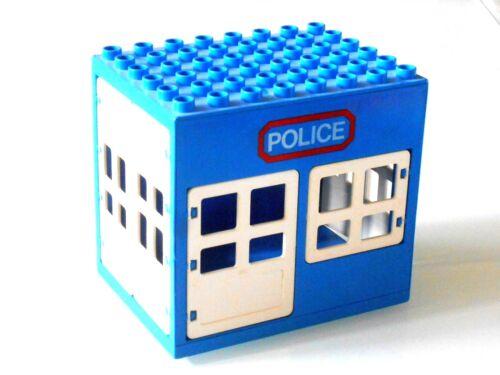 Lego Duplo Polizei Gebäude-Revier 6x8 Noppen in Blau
