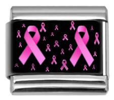RIBBON BREAST CANCER Dangle Italian 9mm Charm NC185 Fits Nomination Classic
