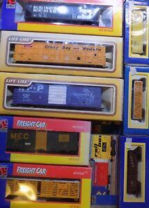 Life-Like-Cars-Box-Flat-Hopper-Gondola-Tank-Reefer-Stock-HO-Select-One-NIB