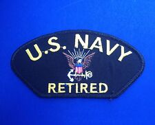 US NAVY RETIRED AMERICAN MILITARY  BIKER PATCH SOLDIER MOTORCYCLE