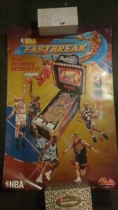 NBA Fastbreak Pinball ORIGINAL Promotional Advertising Poster