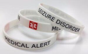 Image Is Loading Seizure Disorder Medical Alert Wristband Silicone Bracelet