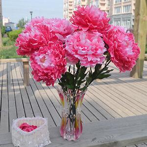 FR-EG-15cm-Grand-5-tete-artificiel-PIVOINE-Tissu-fleur-Maison-Mariage-Fete