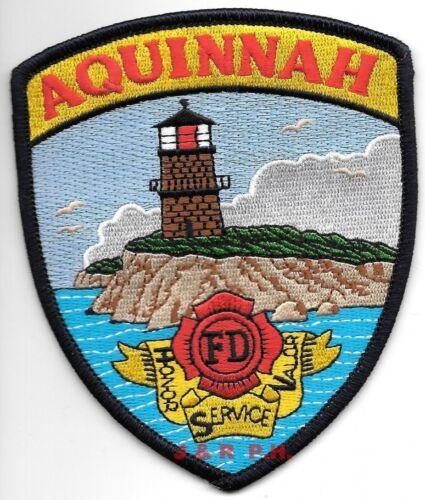 """Aquinnah  Fire Dept. fire patch 3.75/"""" x 4.5/"""" size Massachusetts"""