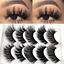 3D-Mink-Eyelashes-5-Pairs-Natural-False-Fake-Long-Thick-Handmade-Lashes-Makeup thumbnail 4