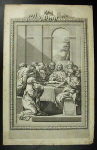 Antique-Print-The-Lords-Supper-Cene-Scene-Religious-1750-This-Eastern-Ma-Flesh
