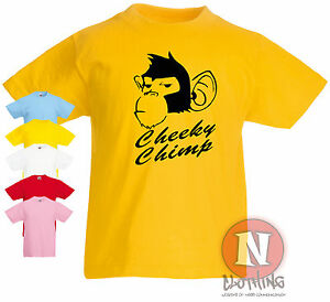Cheeky-Chimp-pour-enfants-Kids-fun-3-13-ans-t-shirt-cool-de-singe-design