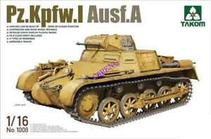 TAKOM-1008-1-16-DEUTSCHER-PANZERKAMPFWAGEN-I-AUSF-tank-model-kit-2019-new