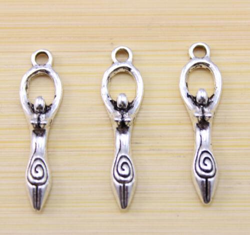 25//50 pcs Very beautiful gymnastics athletes Tibet silver charm pendant
