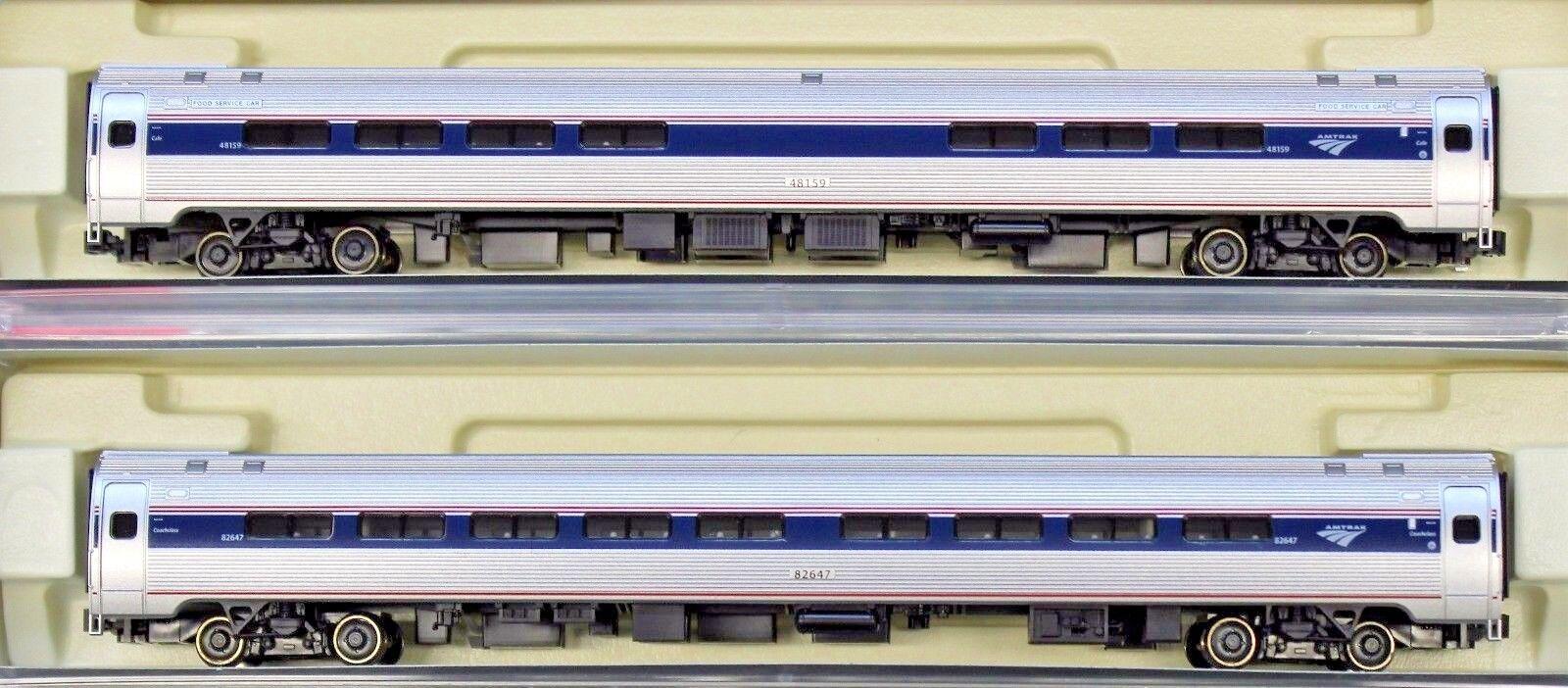 tienda de descuento Escala N-Kato 106-8003 Amtrak Fase VI Serie Serie Serie I entrenador coches 2-Coche Set-Set B  los nuevos estilos calientes