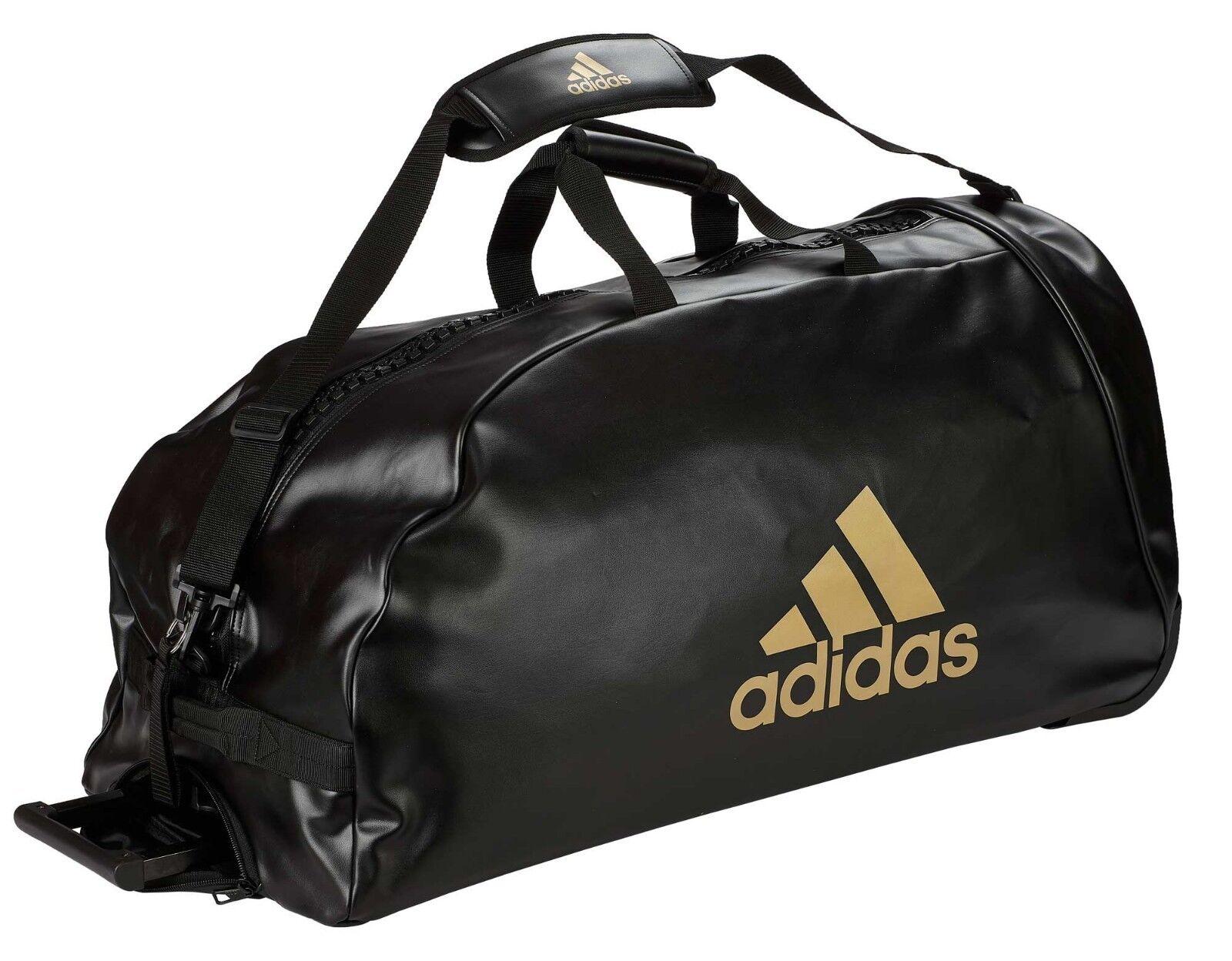 Adidas trolley  Martial Arts  negro oro pu, adiacc 056-bolsa de gimnasia-carretilla