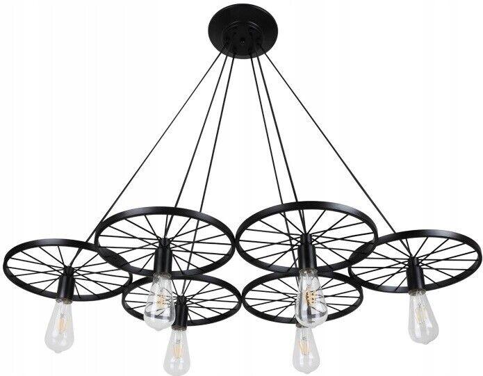 LAMPADA A PENDENTE APP215-6CP RUOTE 60W 230V RETRO 110 x 60 CM TOOLIGHT MODERNO