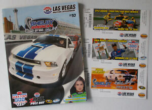 NASCAR-Shelby-American-GT350-Race-2010-Book-UN-ISSUED-TICKET-Set-RARE-ITEMS