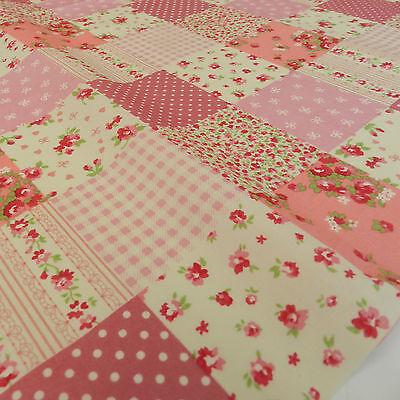 100/% Cotton Polka Dot Fabric Per METRE Approx 7mm Spots Spotty Shabby Chic Spots