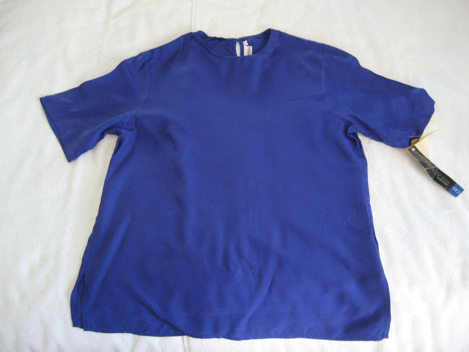 Lot 2 1990s Unworn Short Sleeve Shell Tops Royal … - image 9