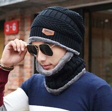8161a258 item 3 Mens Women Warm Winter Hat Scarf Fleece Lining Cap Knit Beanie  Casual Ski Hats -Mens Women Warm Winter Hat Scarf Fleece Lining Cap Knit  Beanie Casual ...
