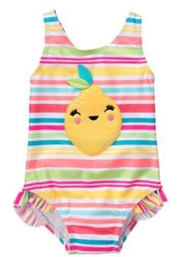 NWT Gymboree Girls Lemon Swimsuit Toddler many sizes UPF 50+