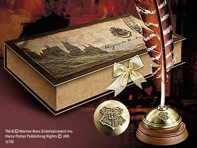 Harry Potter Replica Hogwarts Writing Quill With Inkpot - By Noble Collection