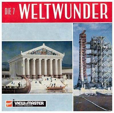 3 View-master 3d Reels????️die 7 / Sieben Weltwunder +booklet B 901-d Stereografie