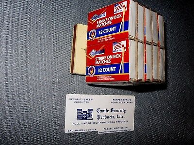 Ohio Blue Tip Safety Matches American Flag Light On Tin Container 168 Count
