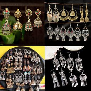 Women-Bollywood-Earrings-Multi-style-Tassel-Dangle-Ethnic-Jhumka-Jhumki-Earrings