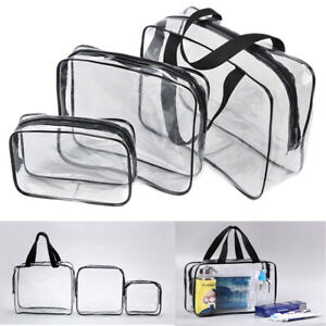 Clear-Transparent-Plastic-PVC-Cosmetic-Make-Up-Toiletry-Zipper-Bag-Travel-Pouch