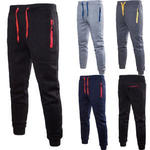 Men-Sport-Pants-Long-Trousers-Zip-Pocket-Soft-Workout-Joggers-Gym-Sweatpants