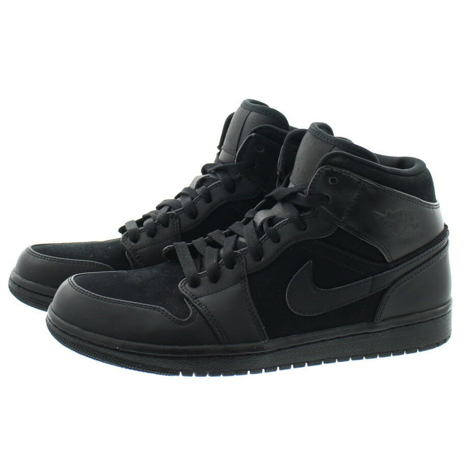 Nike 364770 Men's Air Jordan 1 Phat High Top Basketball Shoes Sneakers Black
