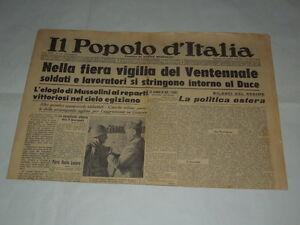 GIORNALI-DI-GUERRA-RARI-IL-POPOLO-D-039-ITALIA-NELLA-FIERA-VIGILIA-DEL-VENTENNALE