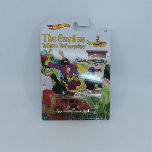Hotwheels Beatles Yellow Submarine Morris Mini Car