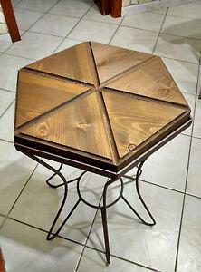 Tavoli In Ferro Battuto E Legno.Tavolo Tavolino In Ferro Battuto E Legno Da Salotto Soggiorno Forma