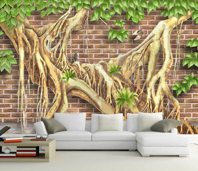 3D Special Roots 618 WallPaper Murals Wall Print Decal Wall Deco AJ WALLPAPER