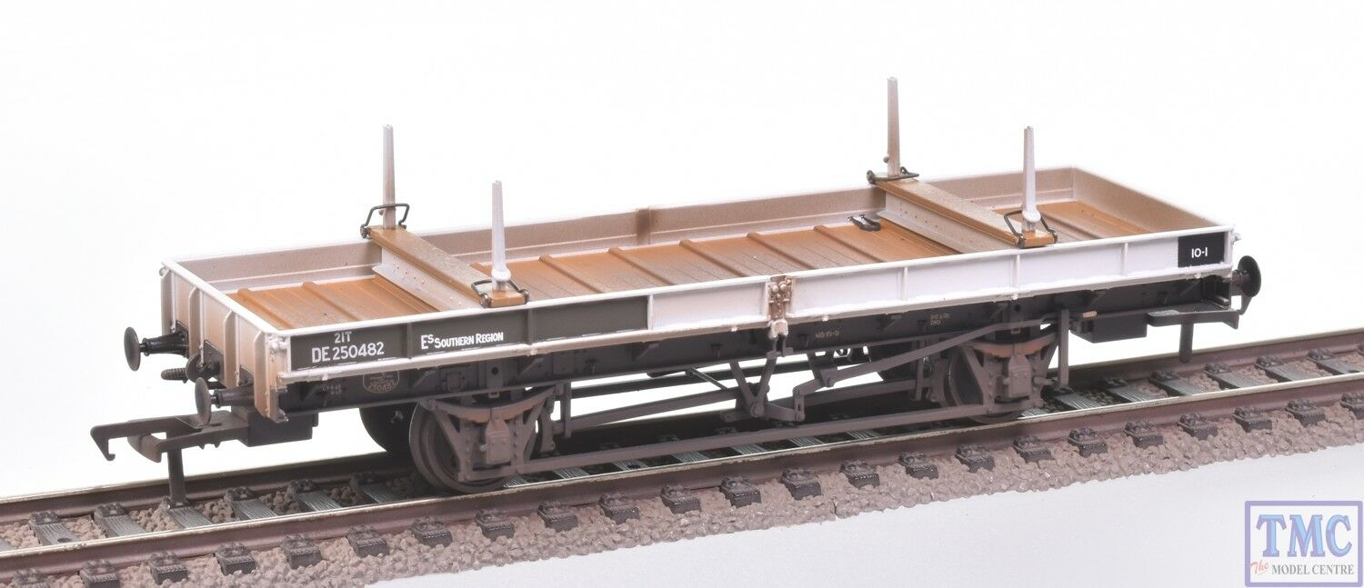 38-830Z Bachmann OO Double Bolster Wagon Olive Grn Frght Gry DE250482 Weathered
