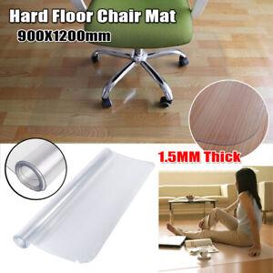 """Heavy Duty PVC 48""""X36"""" Rolling Chair Mat Office Hard Wood ..."""